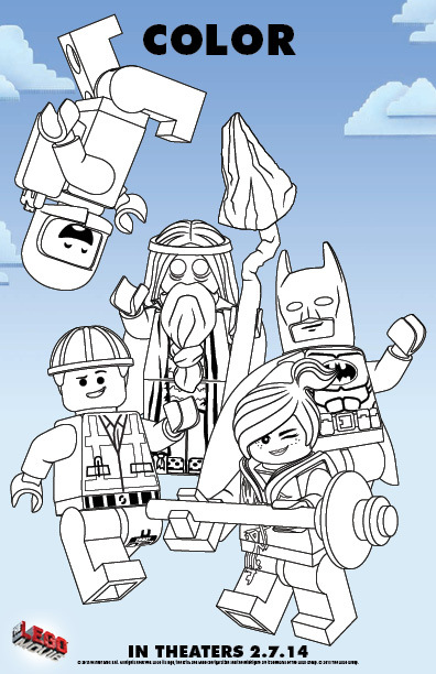 Color In The LEGOR Movie Free Printable Coloring Pages
