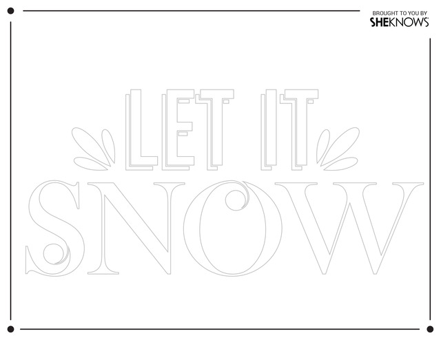 Let It Snow Wall Stencil White Free Printable Coloring Pages