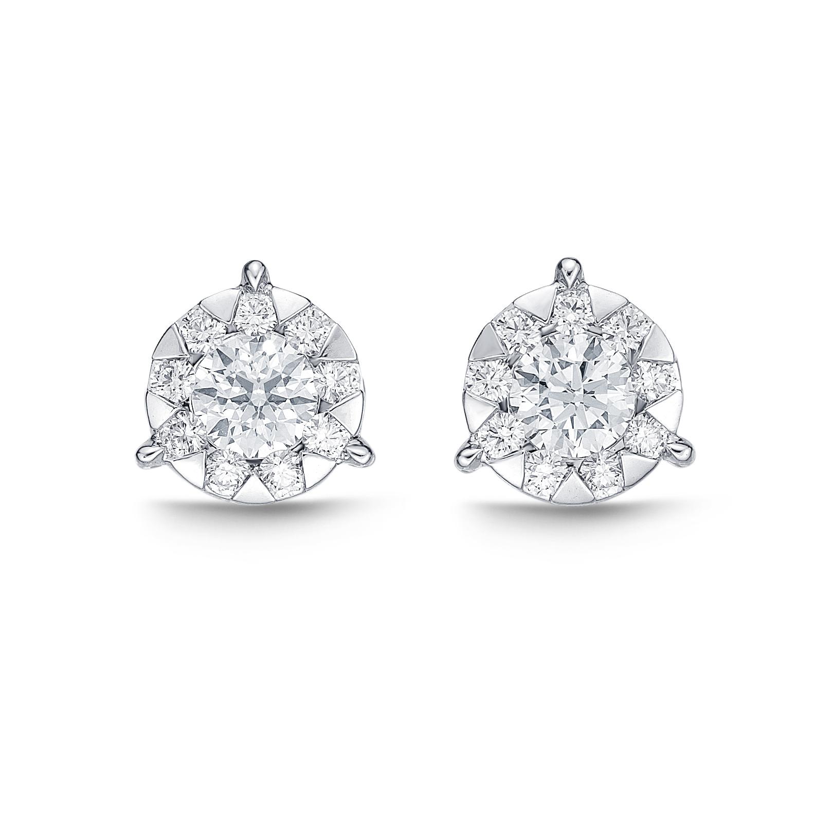 Memoire 18ct White Gold 0 15 Carat Diamond 3 Prong Bouquet