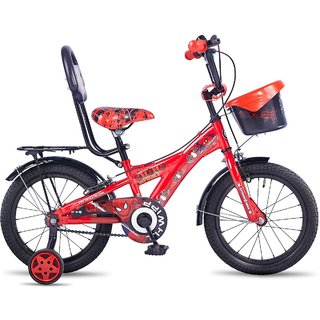 Hero Disney 16T Spiderman Junior Cycle with Carrier, Boys (RED)