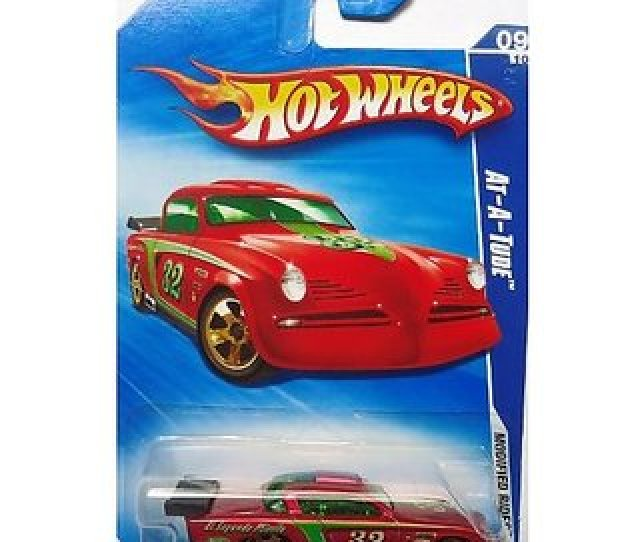 2009 Hot Wheels Modified Rides 09 10 At A Tude Red  Scale Diecast