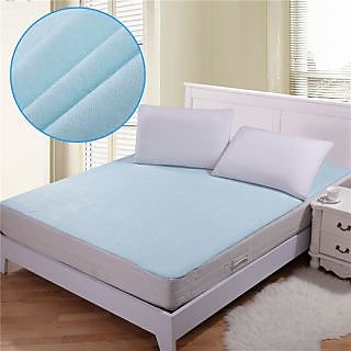 Hw Home Non Woven Fabric Waterproof Double Bed Mattress Protector Sheet With Elastic Strap Assorted Color