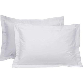pillow covers 100 cotton in white plain set of 2