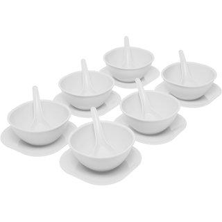 gluman microwave safe soup bowl set of 18 pieces white