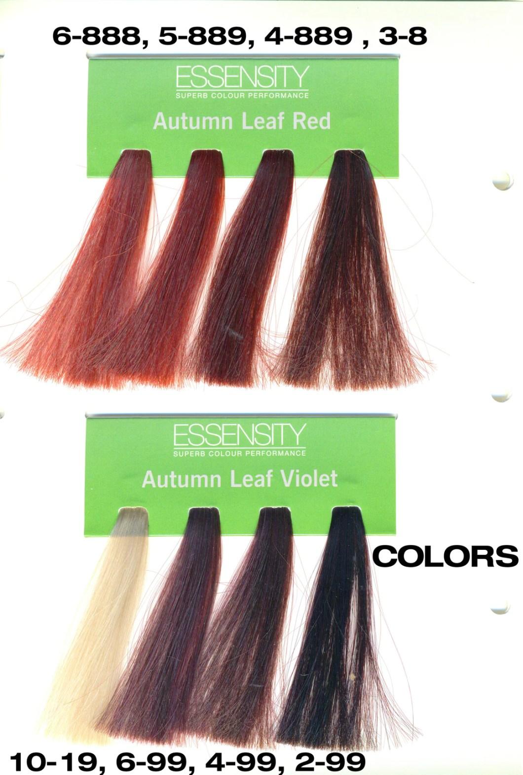 Schwarzkopf Essensity Permanent Hair Color Chart Hairstly