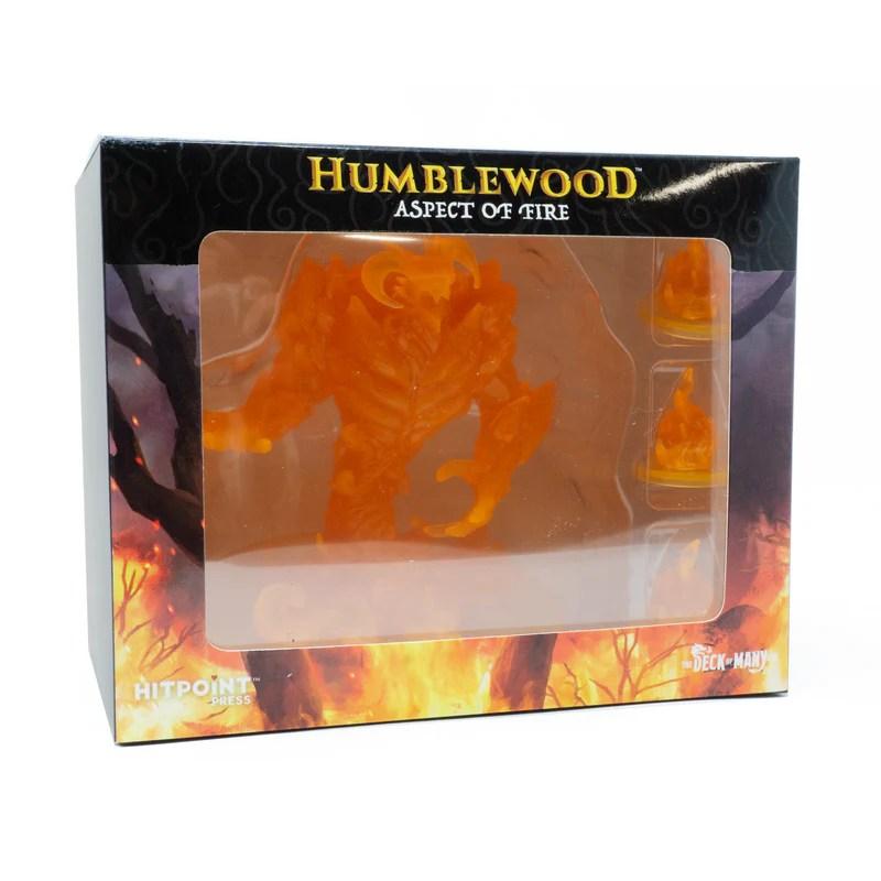 "Humblewood Mini: 4""x4"" Aspect of Fire"