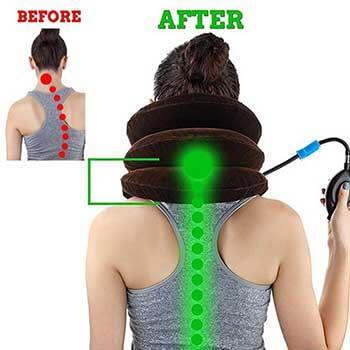 pain relief neck traction pillow great for neck pain next deal shop uk