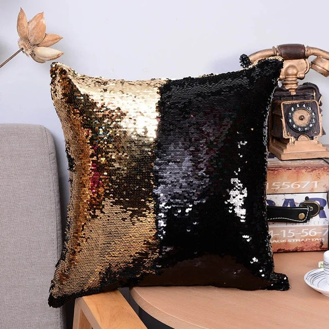 magical unicorn mermaid double sided changing sequin pillowcase cushio the luxe lifestyle co
