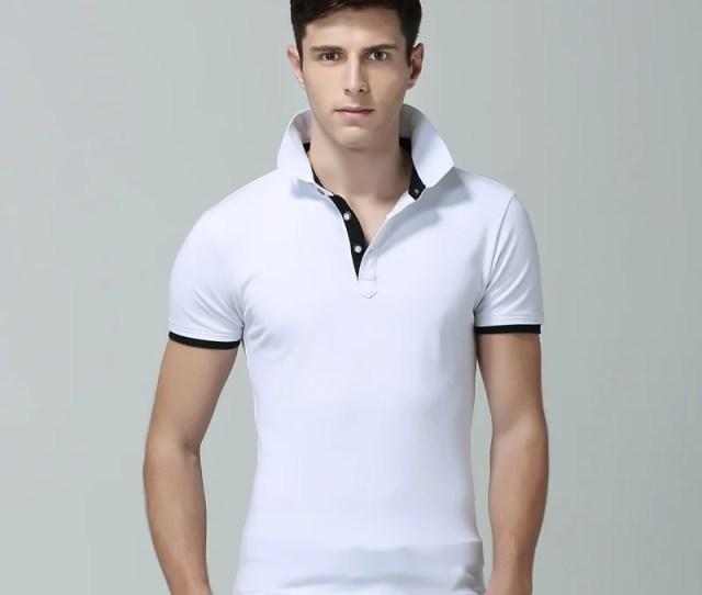 Fashion Clothing New Men Polo Shirt Men Business Casual Solid Male Polo Shirt Short