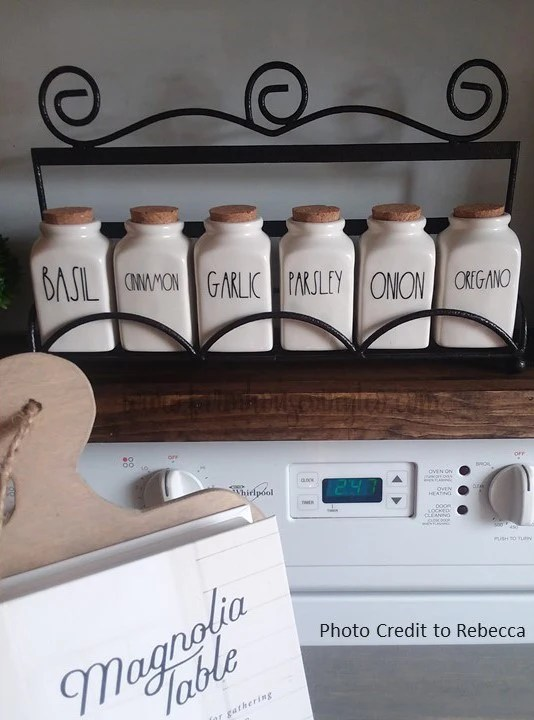 rae dunn inspired spice jar labels