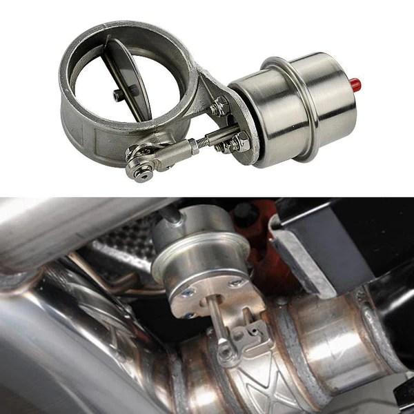 vacuum actuated exhaust cutout valve