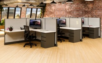 Modern Office Cubicles 6'x6'– 6 Pack - Freedman's Office Furniture