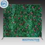 8 X 8 Backdrop Grass Flower Wall Boothactive