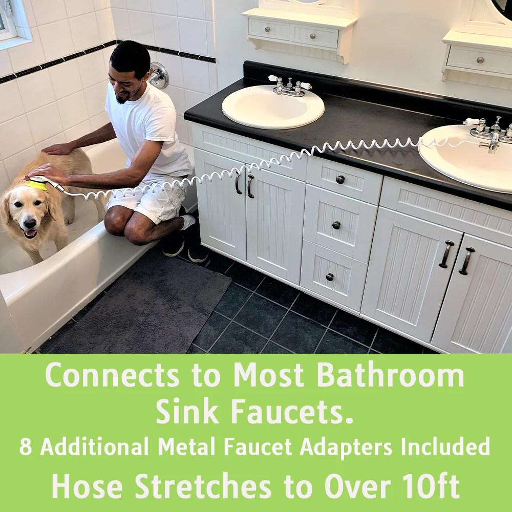 wondurdog sink faucet pet wash kit with