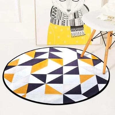 tapis scandinave rond