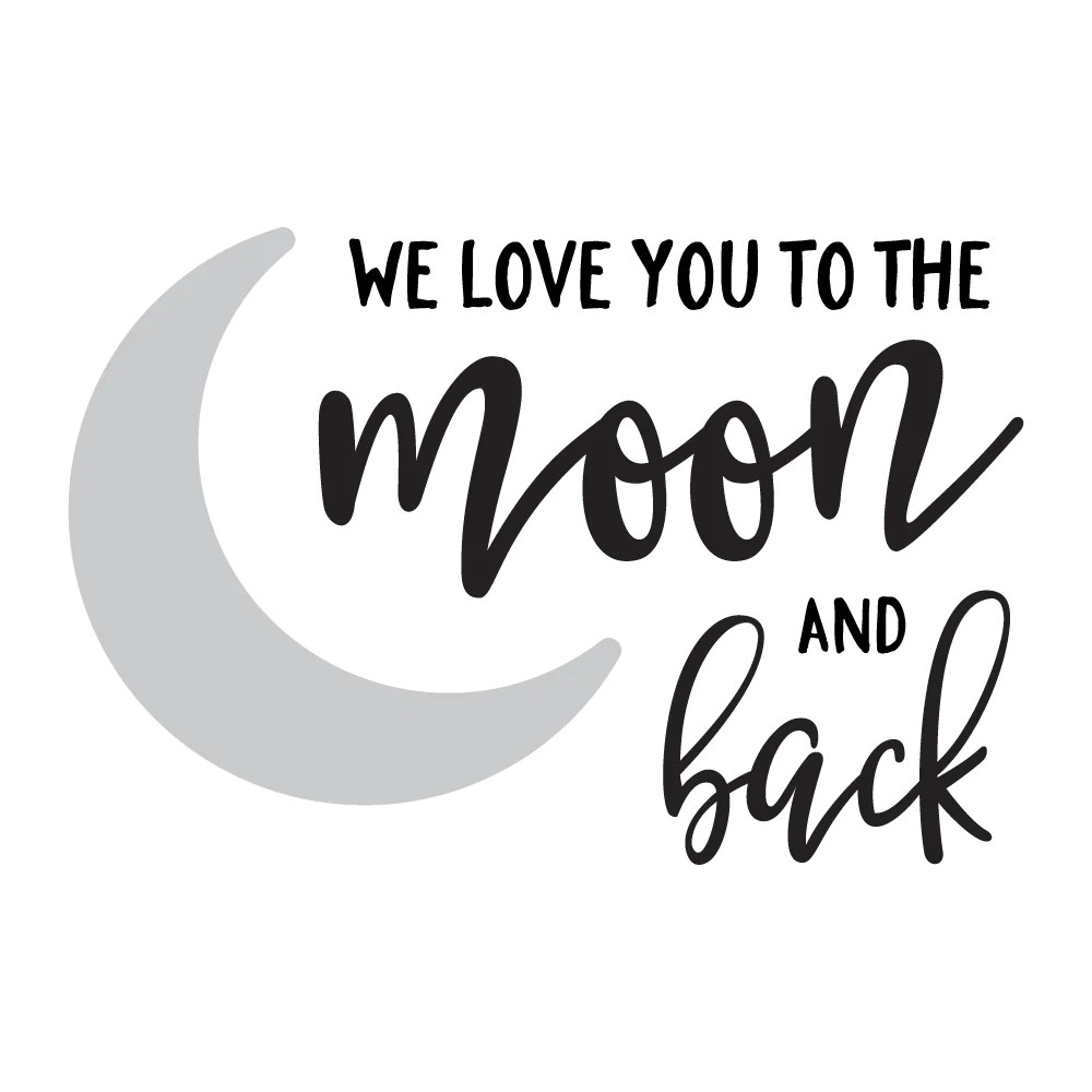 Download We Love You To The Moon & Back Quote Wall Sticker - Red ...