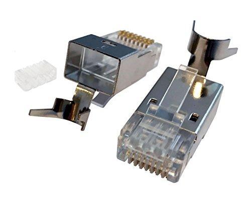 Cat6a RJ45 Connector Plug FTP Shielded 8p 8c 3u-50u Crimp