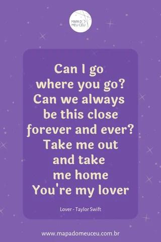 Lover – Frases de músicas internacionais – Mapa do Meu Céu