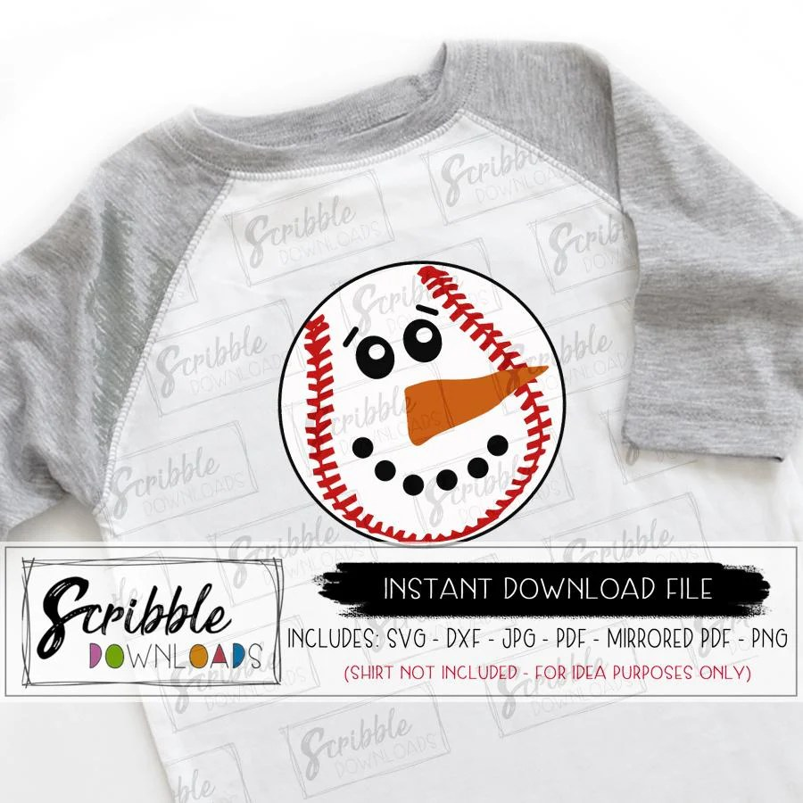 Free svg files to download. Baseball Snowman Svg Scribble Downloads