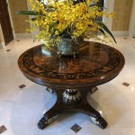 Regency Neoclassical Style Foyer Top Round Table By Giemme 1st Source Consignment