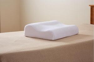 carpenter co contour memory foam pillow pillow peaceful dreams 15x20 wht 4ea cs 031374530770