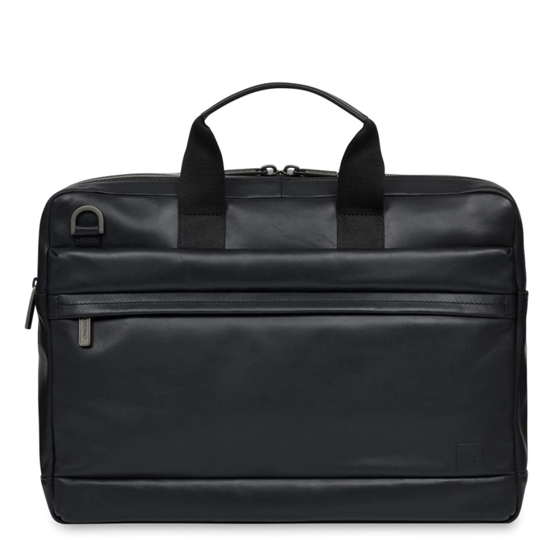 709619bb2b6d KNOMO Black Reeves Leather Laptop Briefcase – 14″ KNOMO® – Knomo –  171.75