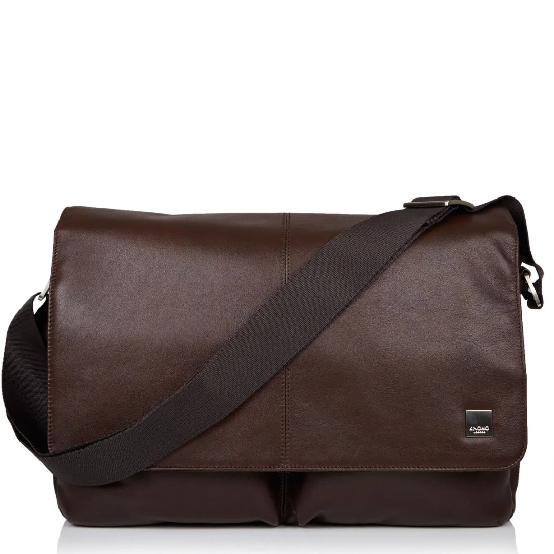 KNOMO Brown Kobe Leather Laptop Messenger Bag – 15″ KNOMO® – Knomo –  209.25 187b921d74aa9