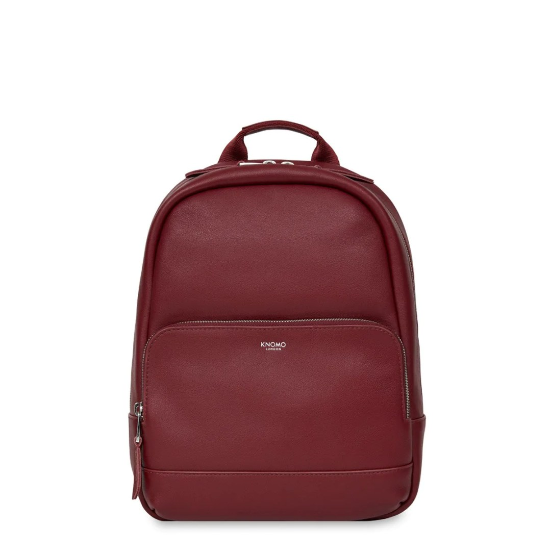 66ab7a34853995 KNOMO Burgundy Mini Mount Leather Backpack 10″ KNOMO® – Knomo –  199.00