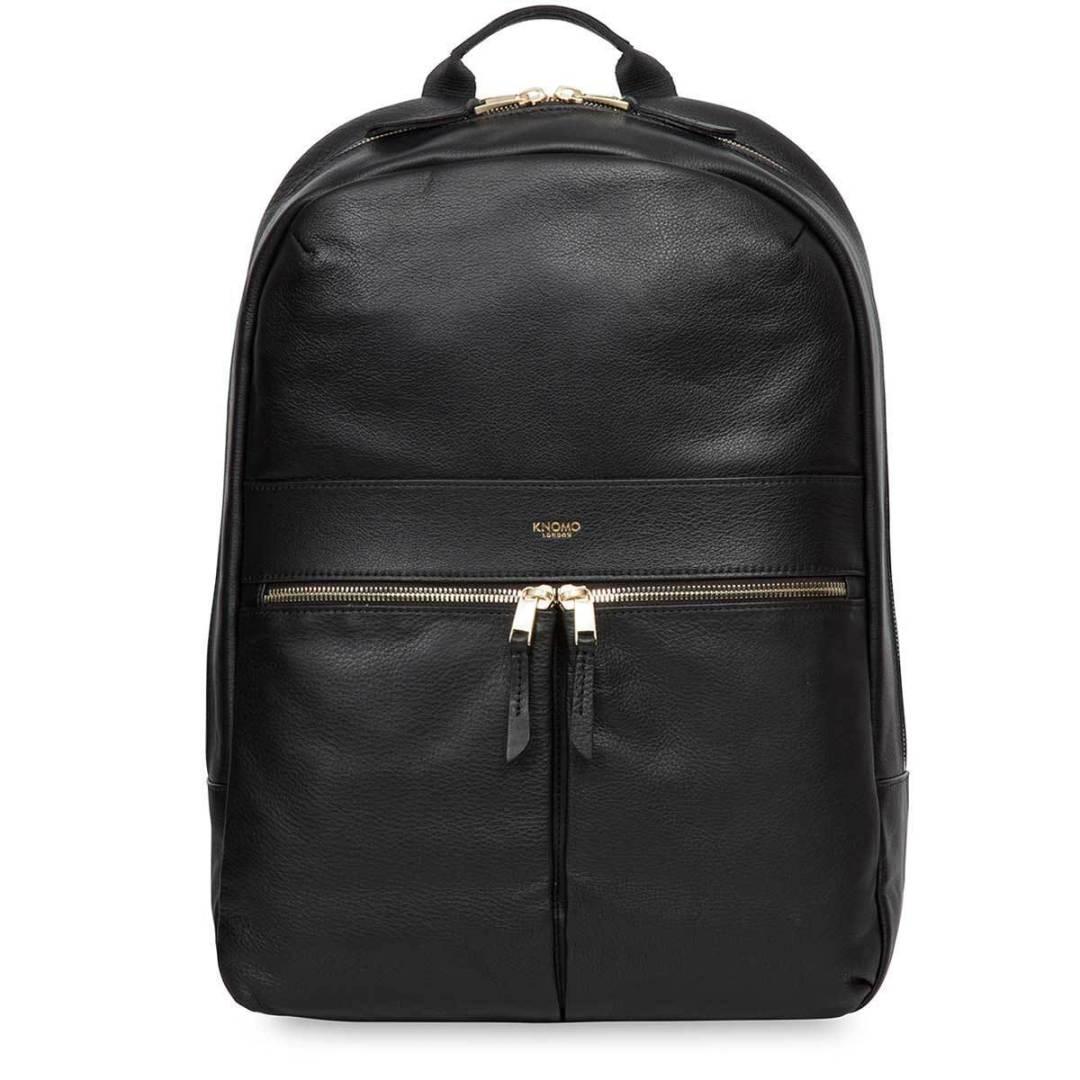 90fc7c4cd KNOMO Black Beaux Leather Laptop Backpack – 14″ KNOMO® – Knomo – $279.00