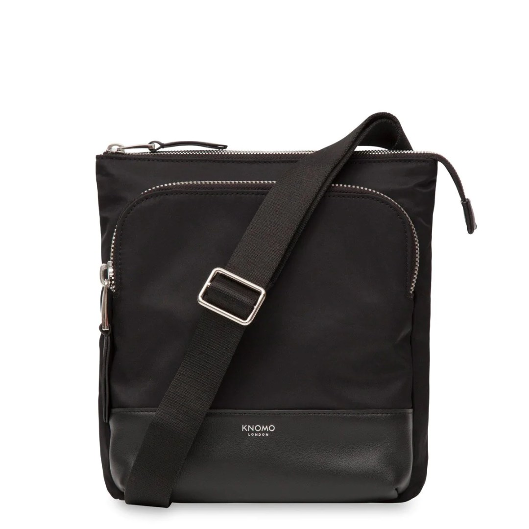 f179d01a68ae KNOMO Black Carrington Mini Cross-Body – 10″ KNOMO® – Knomo –  129.00