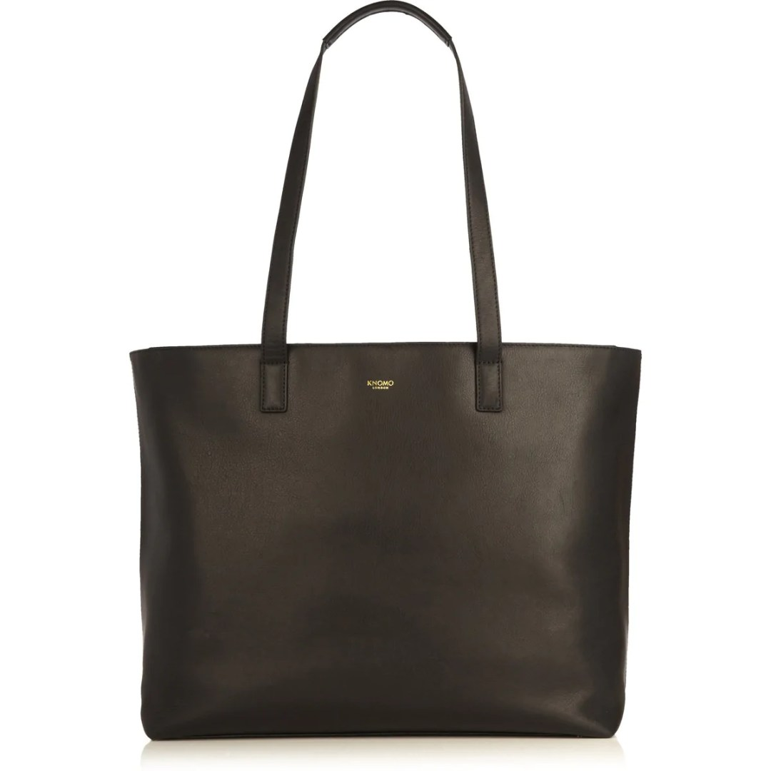 1e537b49c KNOMO Black Audley Leather Laptop Handbag – 14″ KNOMO® – Knomo – $279.00