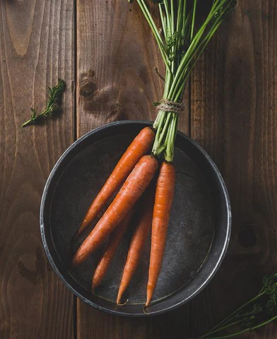 Carrots in a bowl