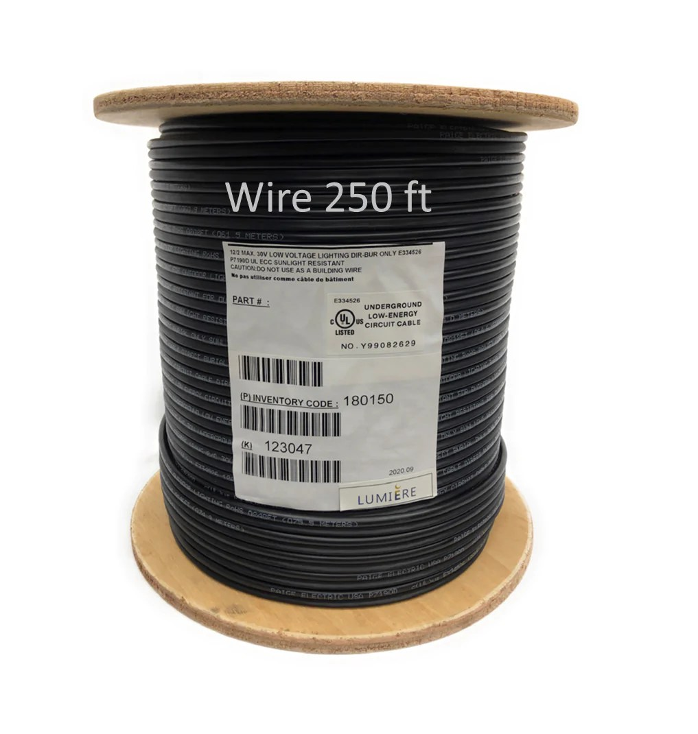low voltage high quality copper wire cable direct burial outdoor landscape lighting 250ft 12 2 awg
