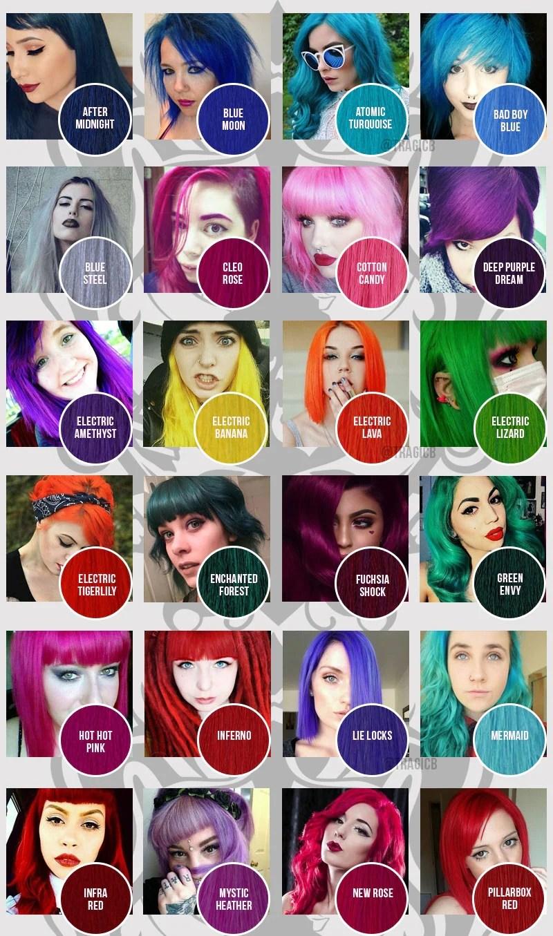 Manic Panic Hair Color Chart Makeupsite