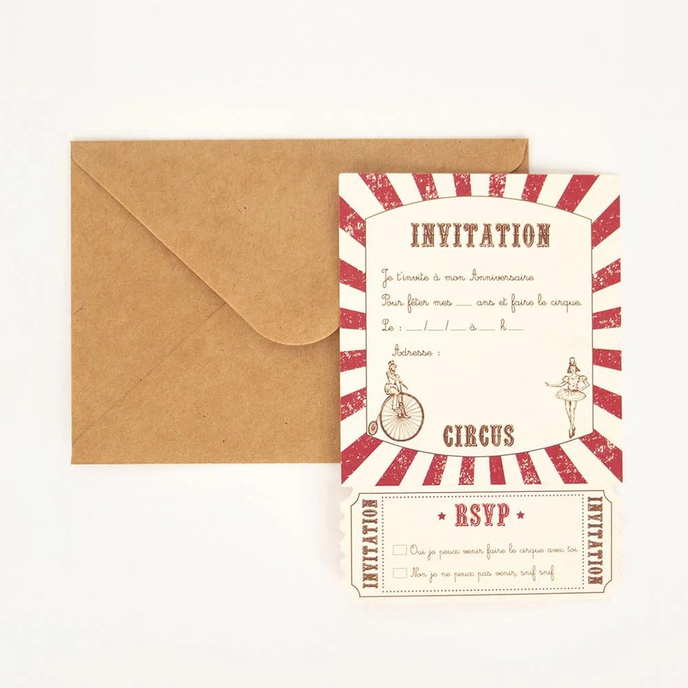 carton invitation circus vintage 8