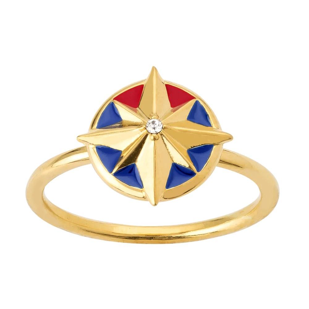 marvel x rocklove captain marvel enamel hala star ring – rocklove