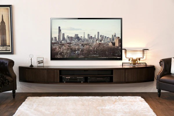 Wall Mount Floating Entertainment Center TV Stand Arc
