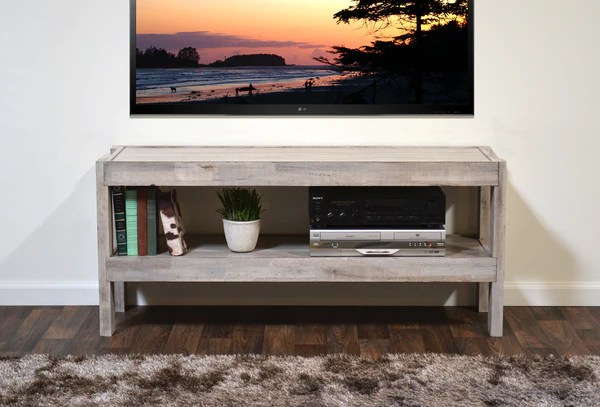 Gray Beach House Coastal Reclaimed Wood TV Stand