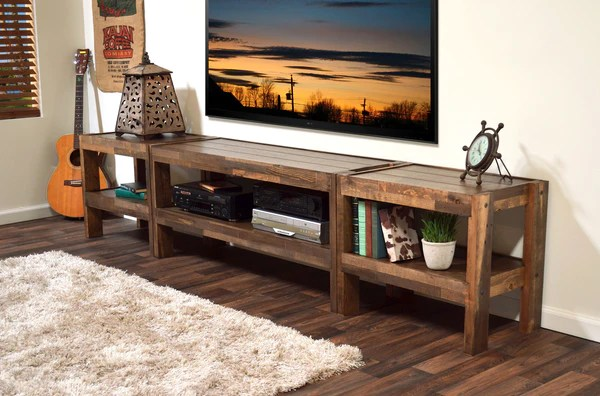 Rustic Reclaimed TV Stand Entertainment Center PresEARTH