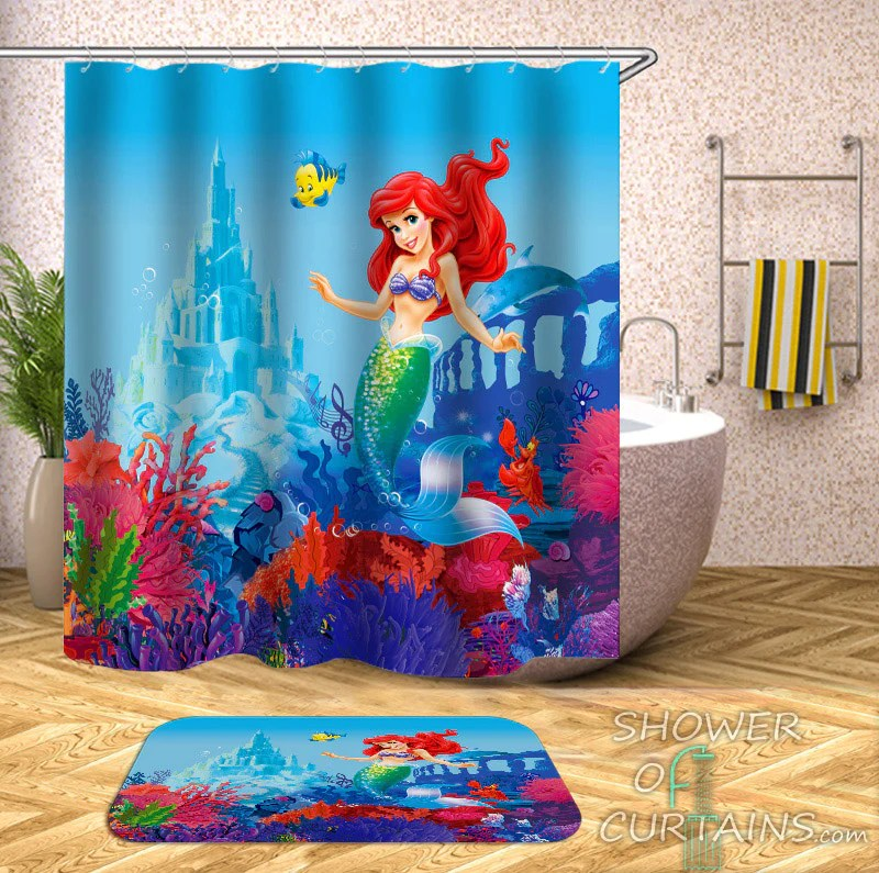 mermaid shower curtain collection