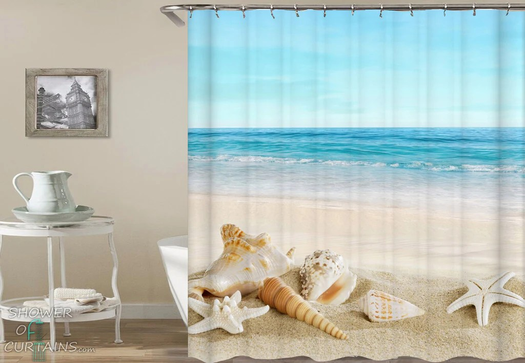 beach shower curtain collection