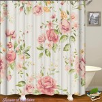 Shower Curtains Light Pink Floral Shower Of Curtains