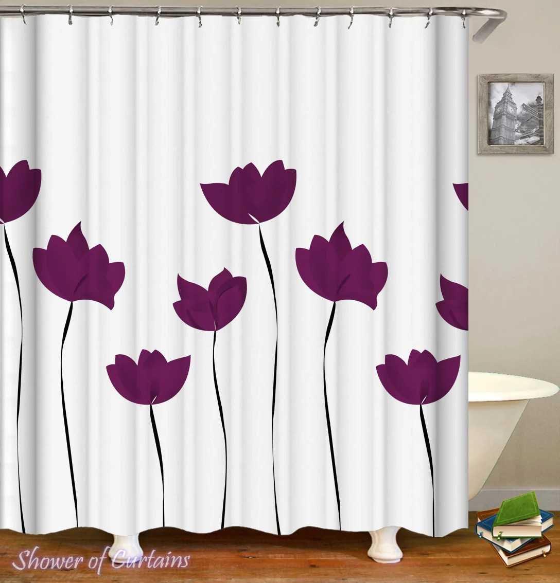 purple tulip drawing