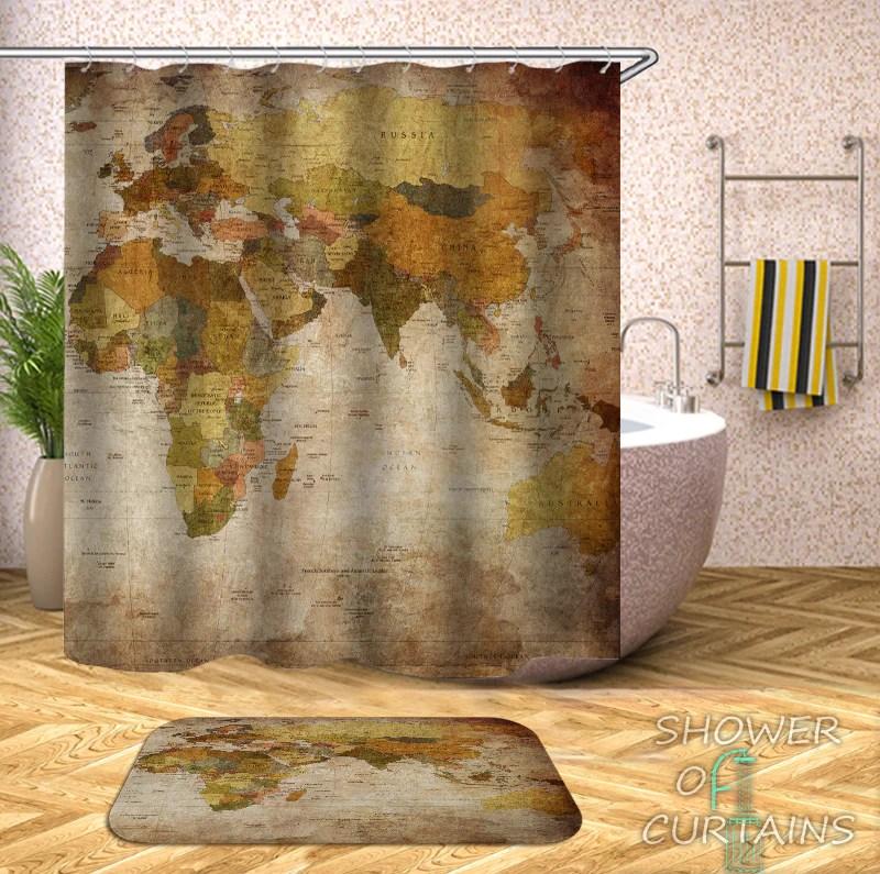 https www showerofcurtains com products vintage africa europe australia map shower curtain