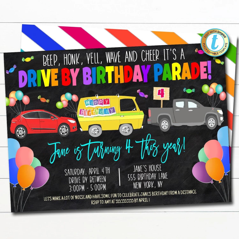 birthday parade party favors ideas