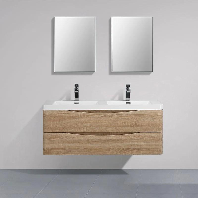Meuble Salle De Bain Design Double Vasque Piacenza Largeur 120 Cm Che Swissbain