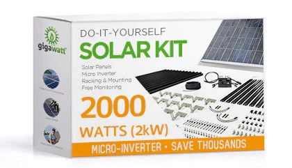 2kW Solar Panel Installation Kit - 2000 Watt Solar PV ...
