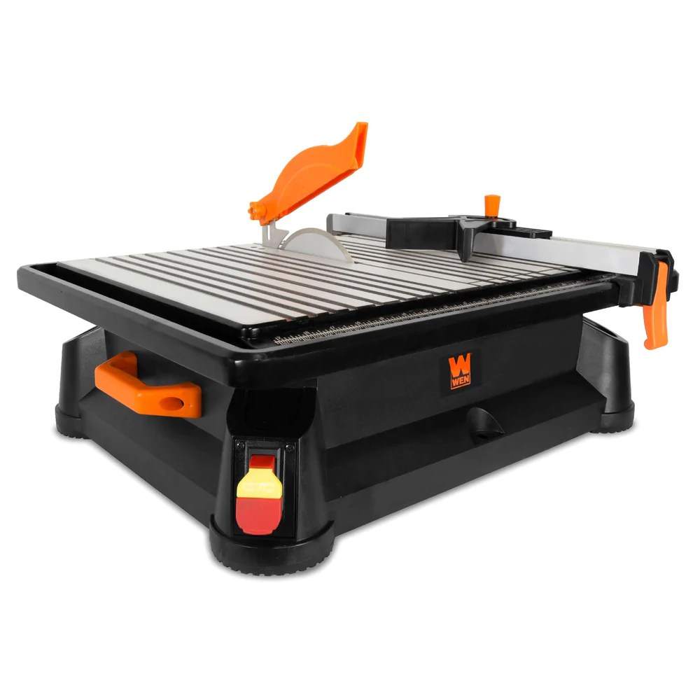 wen 71707 6 5a 7 inch portable wet tile saw with fence and miter gauge