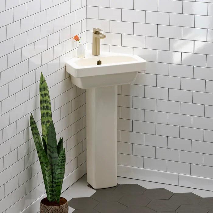 resort corner pedestal lavatory barclay products limited