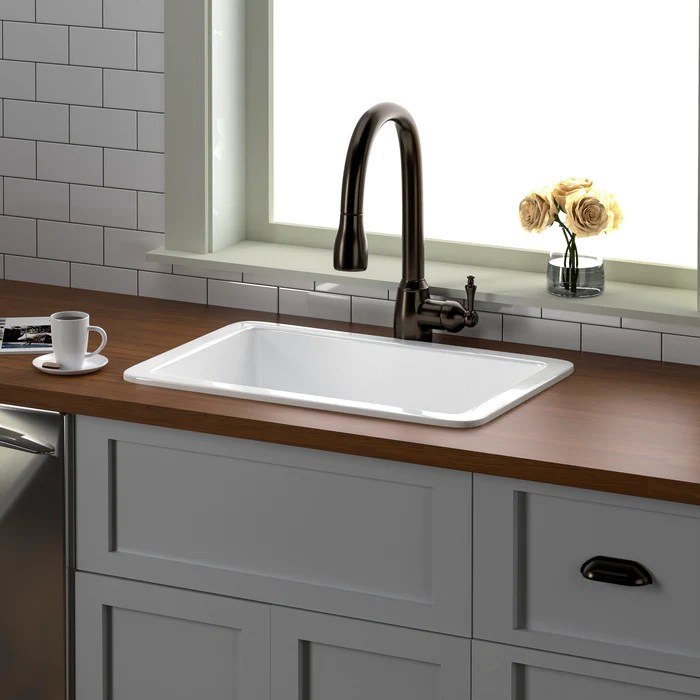 orabella 27 drop in undermount fireclay kitchen sink barclay products limited
